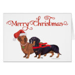Dachshunds Christmas Greeting Card