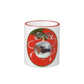 Dachshunds Christmas Ornament Coffee Mug