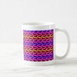 Dachshunds de la polca del arco iris tazas de café