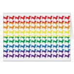 Dachshunds del arco iris del orgullo gay tarjeton