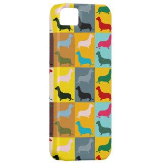 Dachshunds del arte pop iPhone 5 Case-Mate fundas