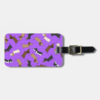 Dachshunds del baile (púrpuras) etiquetas bolsa