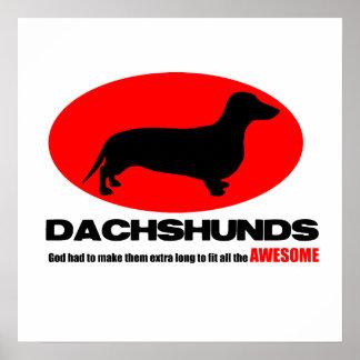 Dachshunds - dios les hizo el poster extralargo