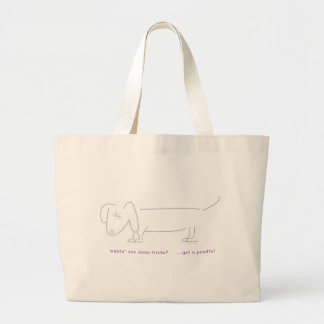 Dachshunds don't do tricks tote bags