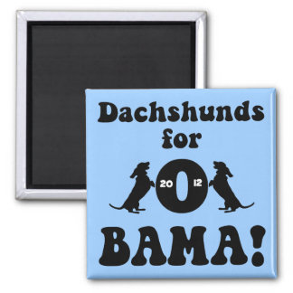 dachshunds for Obama 2 Inch Square Magnet