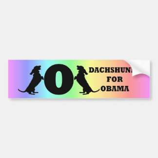 dachshunds for Obama Car Bumper Sticker