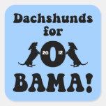 dachshunds for Obama Square Sticker