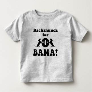 dachshunds for Obama Toddler T-shirt
