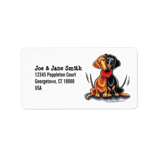 Dachshunds Have Heart Label