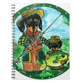 Dachshunds idos de Fishin Libro De Apuntes