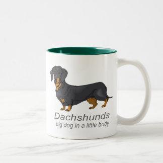 Dachshunds Two-Tone Coffee Mug
