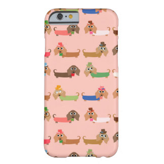 Dachshunds on Pink Barely There iPhone 6 Case