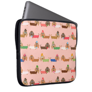 Dachshunds on Pink Computer Sleeve