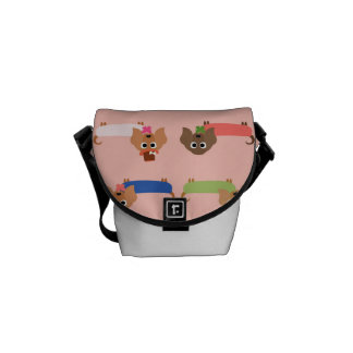 Dachshunds on Pink Courier Bag