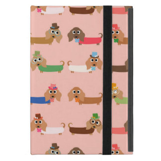 Dachshunds on Pink iPad Mini Cover