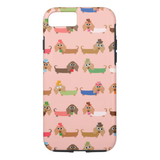 Dachshunds on Pink iPhone 7 Case