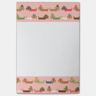 Dachshunds on Pink Post-it® Notes