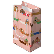 Dachshunds on Pink Small Gift Bag