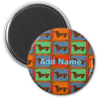 Dachshunds Pa Dutch hex Sign, add name