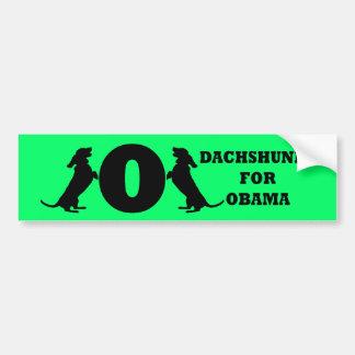 dachshunds para Obama Etiqueta De Parachoque