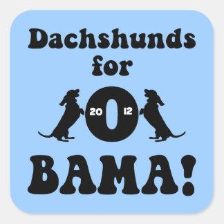 dachshunds para Obama Pegatina Cuadrada