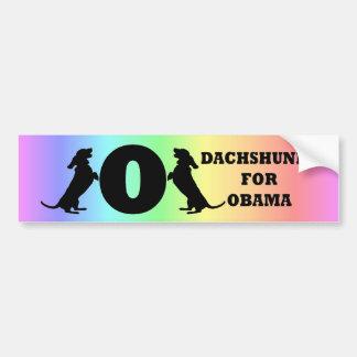 dachshunds para Obama Pegatina De Parachoque
