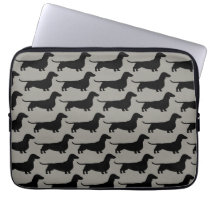 Dachshunds Pattern (Short Haired Wiener Dogs) Computer Sleeve