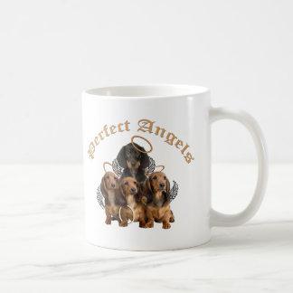 Dachshunds perfectos de los ángeles taza de café