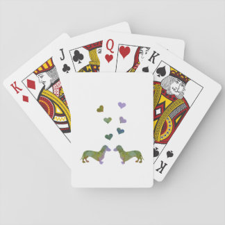 Dachshunds Playing Cards