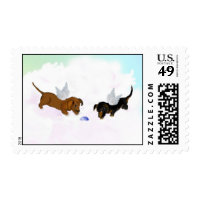 Dachshunds Postage