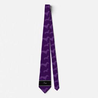 Dachshunds púrpuras conocidos personalizados corbatas personalizadas