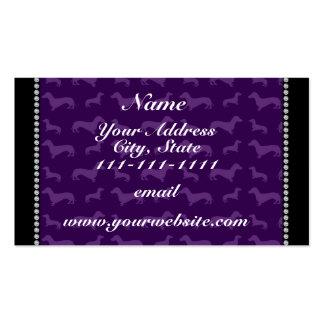Dachshunds púrpuras conocidos personalizados tarjetas de visita