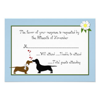 Dachshunds que casan la tarjeta de la respuesta comunicados
