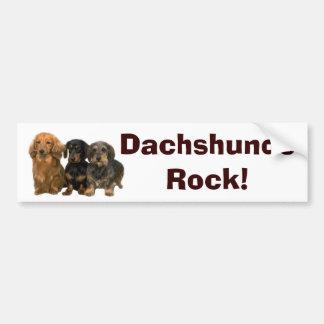 Dachshunds Rock Bumper Sticker Car Bumper Sticker
