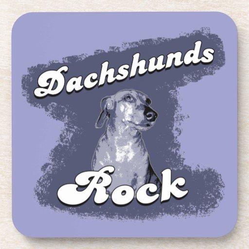 Dachshunds Rock Coaster Set
