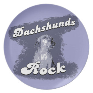 Dachshunds Rock Collectors Plate