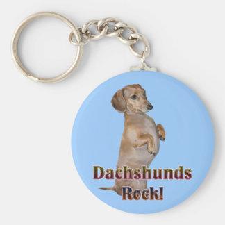 Dachshunds Rock Lilly Basic Round Button Keychain