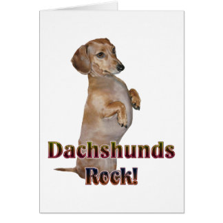 Dachshunds Rock Lilly Card