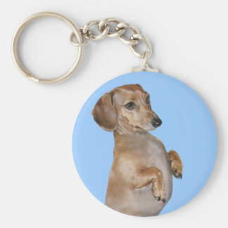 Dachshunds Rock Lilly Keychain