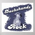 Dachshunds Rock Poster / Print print