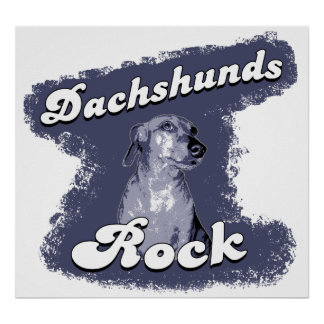 Dachshunds Rock Poster / Print