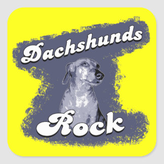 Dachshunds Rock Stickers