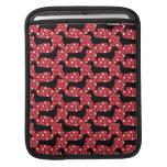 Dachshunds rojos de la polca mangas de iPad