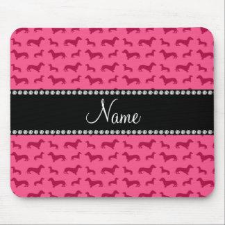 Dachshunds rosados conocidos personalizados alfombrillas de ratones