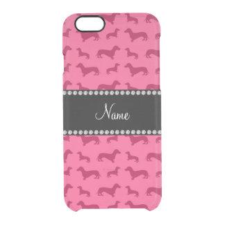 Dachshunds rosados conocidos personalizados funda clearly™ deflector para iPhone 6 de uncommon