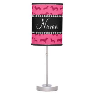 Dachshunds rosados conocidos personalizados