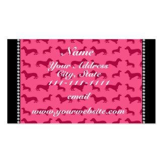 Dachshunds rosados conocidos personalizados tarjetas de visita