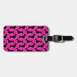 Dachshunds rosados de la polca etiqueta para equipaje