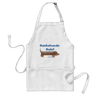 Dachshunds Rule Adult Apron