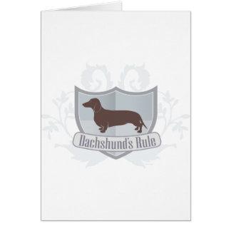 Dachshunds Rule ! Card